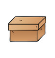 Cartoon box on white background vector image
