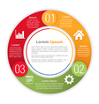 Circle Infographics Template vector image vector image