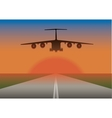 an airplane landing vector image