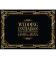wedding invitation art deco vector image
