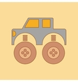 flat icon on background Kids toy car vector image