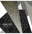 Abstract triangle pattern design vector image