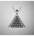 Billiard cue and balls icon vector image