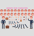 business man character creation set with various vector image