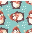 Christmas penguins happy vector image