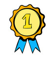 first place rosette icon icon cartoon vector image