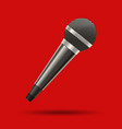 realistic detailed 3d modern metal microphone vector image