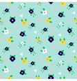 Spring small wild flower field seamless pattern vector image