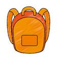school bag isolated icon vector image
