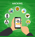 hacking design composition vector image