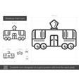 streetcar tram line icon vector image