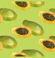 geometric polygonal exotic food seamless pattern vector image vector image