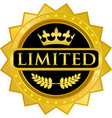 Limited gold label vector image