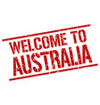 welcome to australia stamp vector image