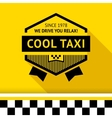 Taxi badge with shadow - 02 vector image vector image