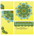 Set of invitation cards with ornaments - kaleidosc vector image