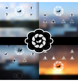 blurred landscapes set vector image vector image