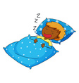 Boy sleeping vector image vector image