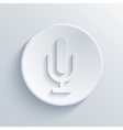 modern microphone icon vector image vector image