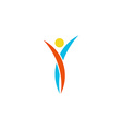 Human logo abstract dance body fitness sport man vector image
