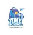 Design template with school emblem vector image