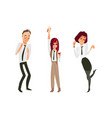flat office workers people dancing vector image