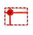 holiday stripe frame-10 vector image
