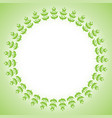 spring frame made up of leaves vector image