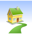 Green road to house vector image vector image