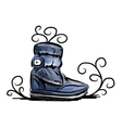 Winter shoes sketch for your design vector image