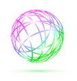 multicolored abstract ball vector image