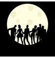 Zombie Halloween Party vector image