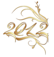 golden new year 2012 vector image