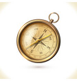 Antique brass compass vector image