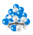 blue and white party balloons for anniversary vector image
