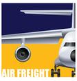 cargo air transportation vector image