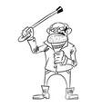 Cartoon image of mean old man vector image
