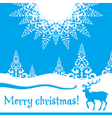 Christmas card with deer vector image