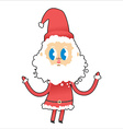Cute Santa Claus with big eyes Young Santa raised vector image