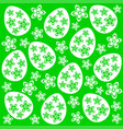 easter seamless background green vector image