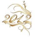 golden new year 2012 vector image