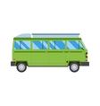 Green travel car vector image