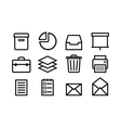 Sketched internet icons vector image