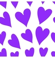 Valentines Day pattern with hearts vector image
