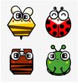 Funny bugs vector