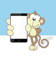 monkey smartphone vector image vector image