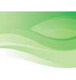 Green wave background vector image vector image