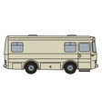 old transport and service vehicle vector image
