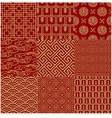 seamless Chinese traditional mesh pattern vector image