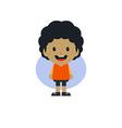 adorable boy cartoon character vector image